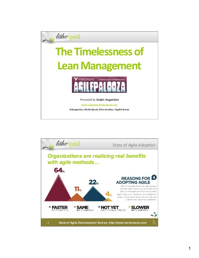 Timelessness of Lean Management