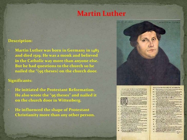 conclusion to martin luther paper Martin luther king, jr thesis statement his life proces paper bibliography conclusion martin.