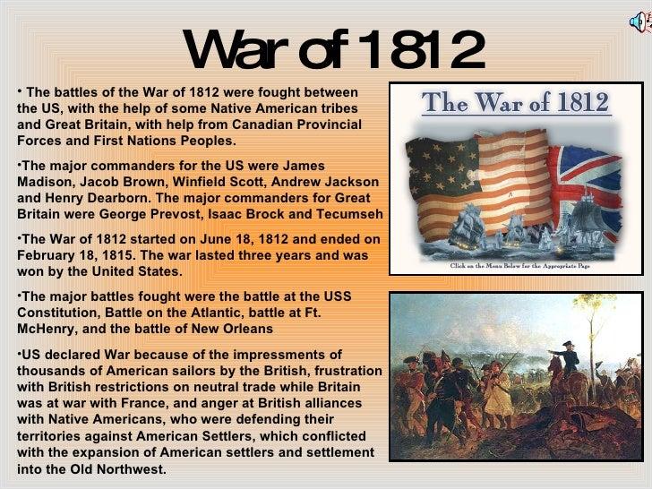 essay war of 1812