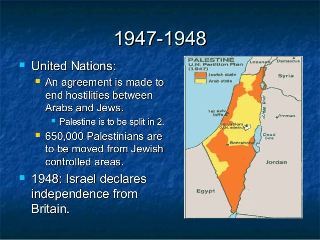 Timeline Of The Arab And Israel Conflict