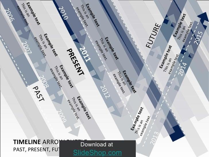2013 Download at  SlideShop.com TIMELINE  ARROW PUZZLE PAST, PRESENT, FUTURE (10 Years) PRESENT PAST FUTURE 2006 2007 2008...