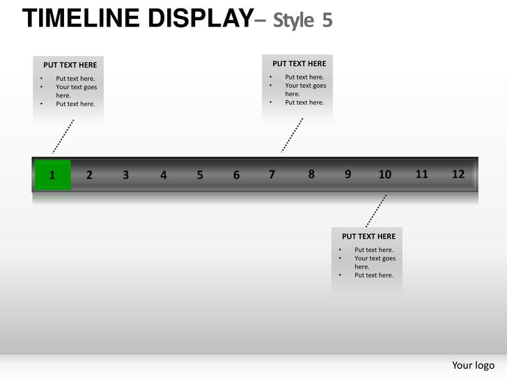 Roadmap Time line display style 5 powerpoint presentation templates