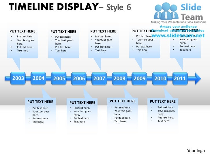 Timeline display style 6 powerpoint presentation slides ppt templates