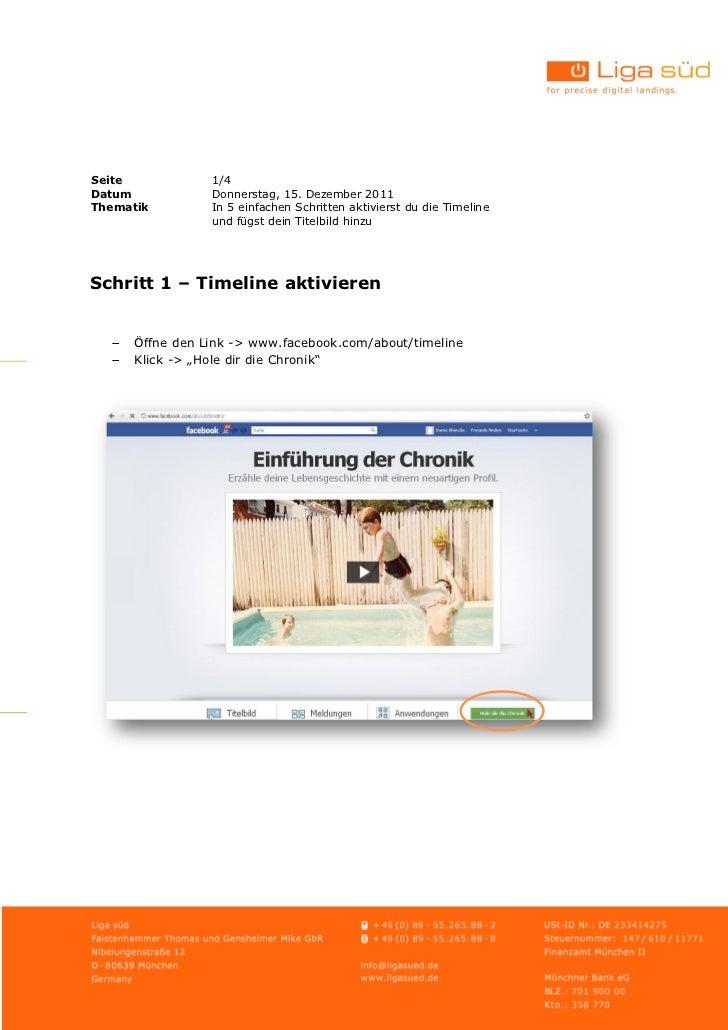 Seite           1/4Datum           Donnerstag, 15. Dezember 2011Thematik        In 5 einfachen Schritten aktivierst du die...