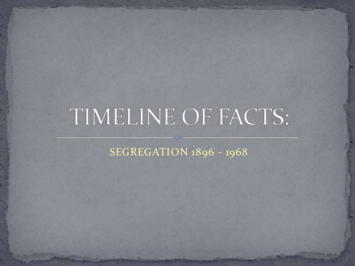Timeline of facts