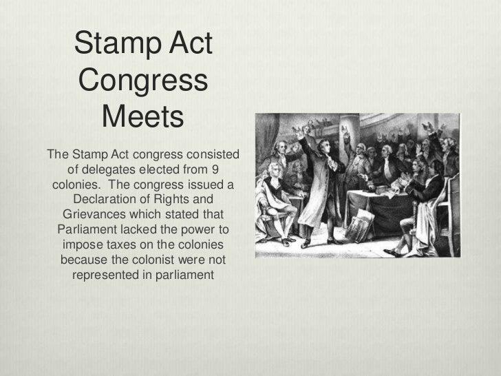 Stamp Act Congress Essay