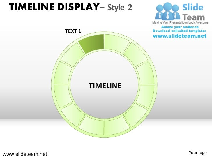 Timeline roadmap display design 2 powerpoint presentation templates.