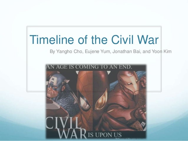Timeline of the Civil War By Yangho Cho, Eujene Yum, Jonathan Bai, and Yoon Kim