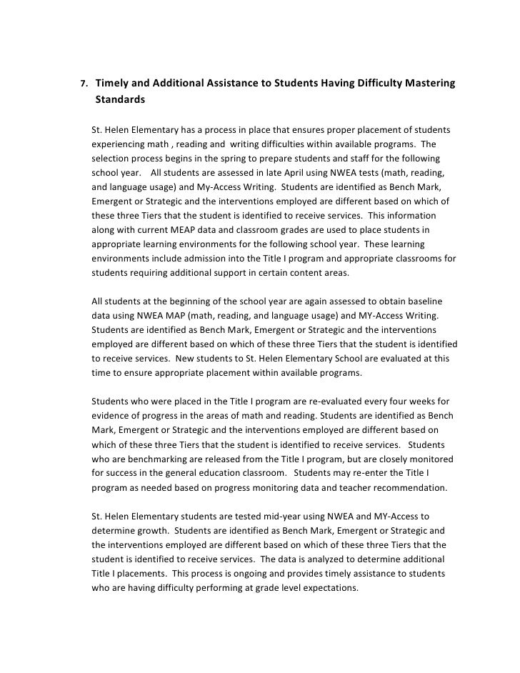 <ul><li>Timely and Additional Assistance to Students Having Difficulty Mastering Standards