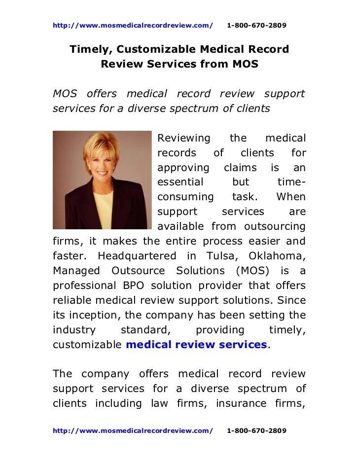 Timely  customizable medical_record_review_services_from_mos