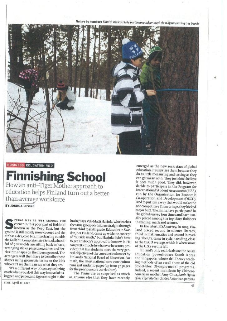 Time mag   finnishing school