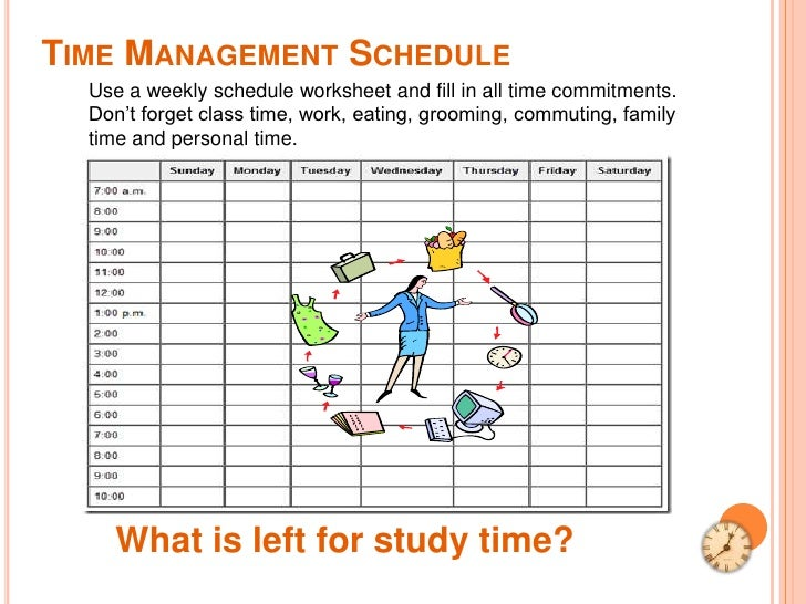 how to schedule work and study and life