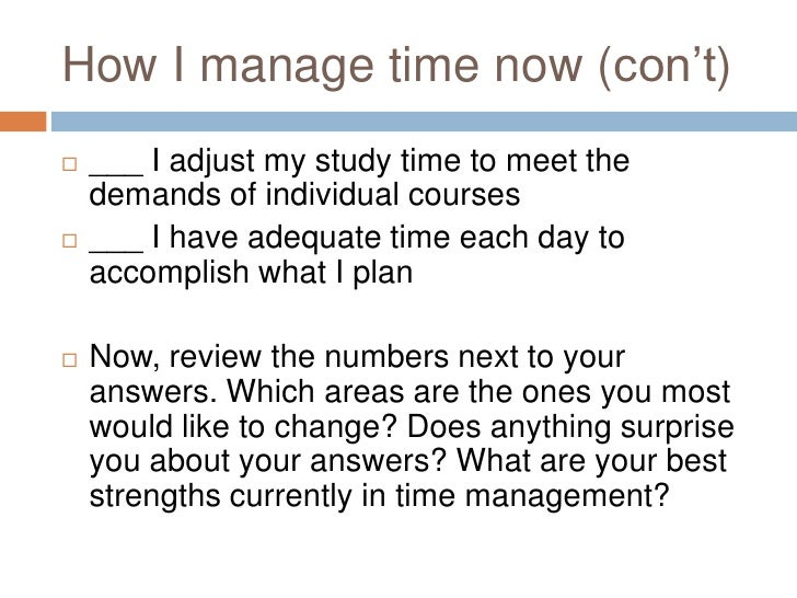 How can I manage my time better?