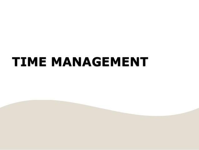 TIME MANAGEMENTSubtitle
