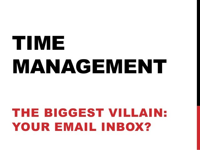 Time management: Taking Control of your email inbox