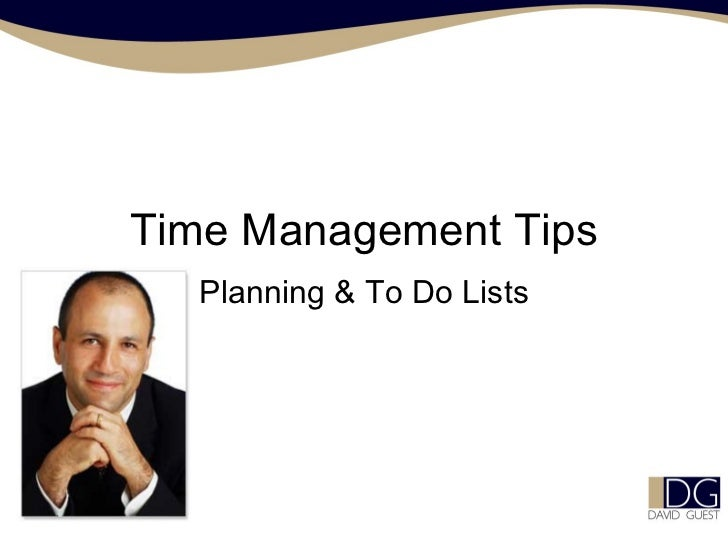 Time Management Tips Planning & To Do Lists