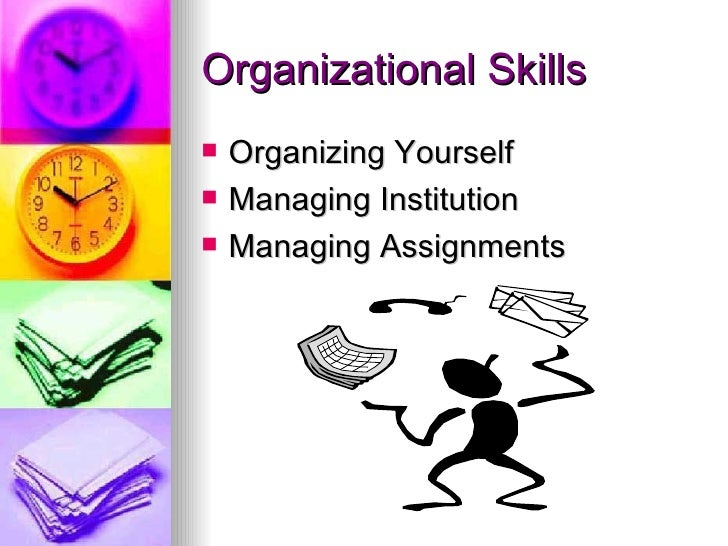 list of organisational skills