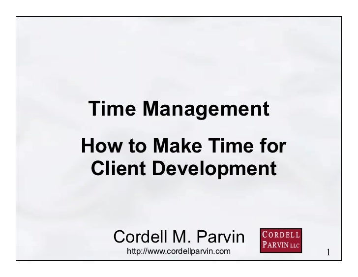 Making Time for Client Development