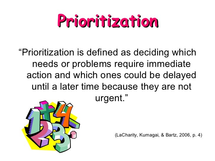 prioritization delegation and assignment  eBay