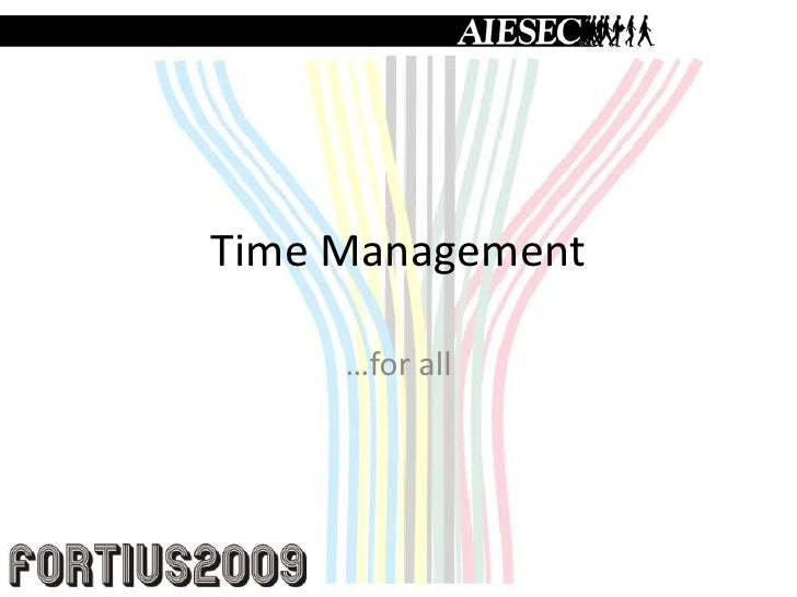 Time Management FORTIUS 09
