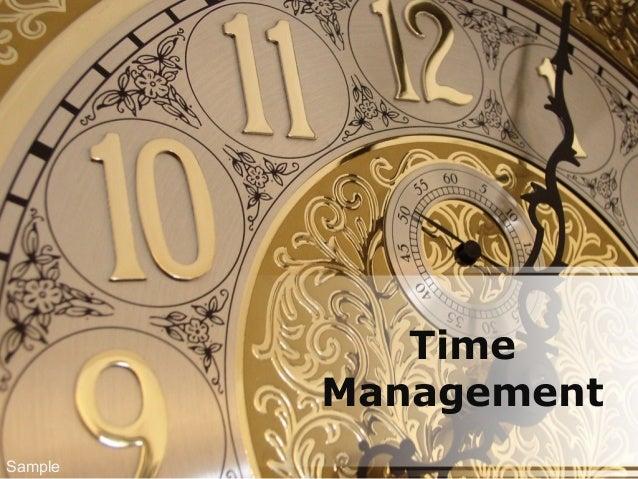 Time Management Sample