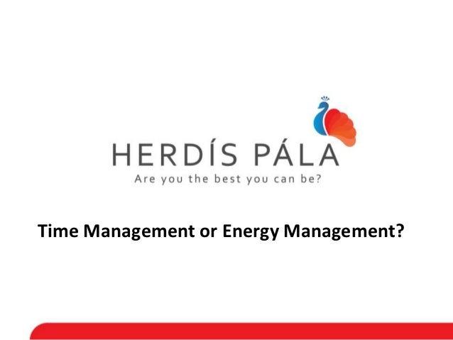 Time Management or Energy Management?