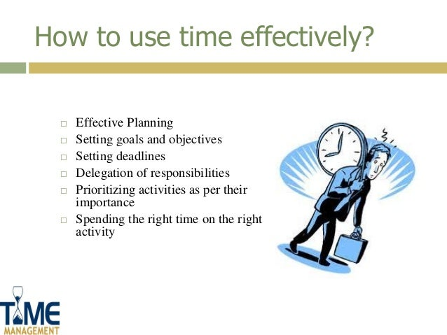 Importance of time management essay