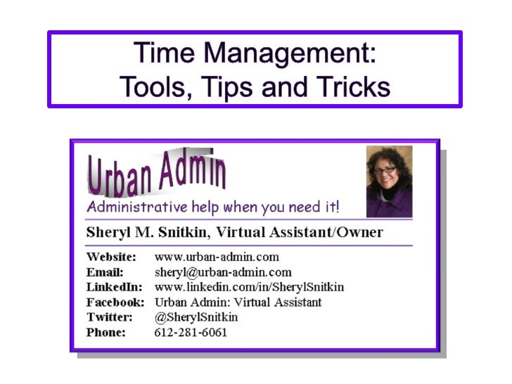 Download my FREE Time Management Presentation