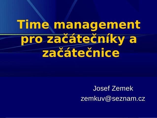 Time management pro začátečníky
