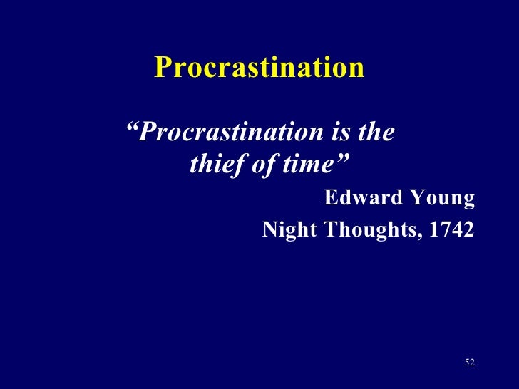 term papers on procrastination As a university instructor, the close of each academic term is always the same for me: i get a flurry of apologetic e-mails from panicked students who have put off their homework and term papers until the last possible moment.