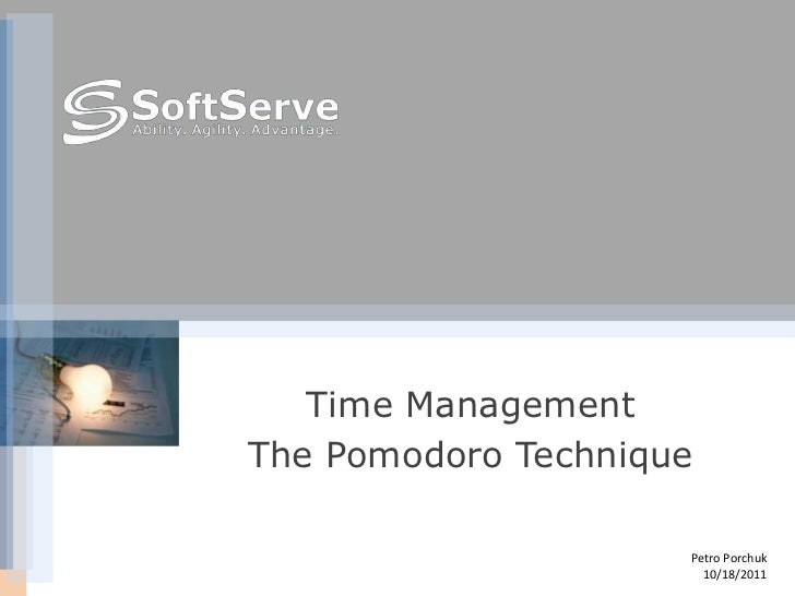 Time management the_pomodoro