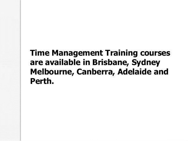 Time management courses perth