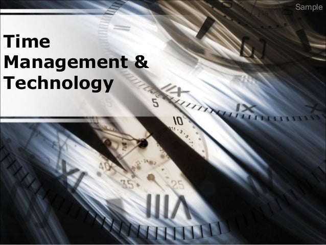 Time Management & Technology Sample