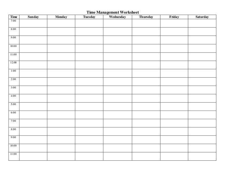 Moves Management Worksheet : Time management activity sheet law of attraction success