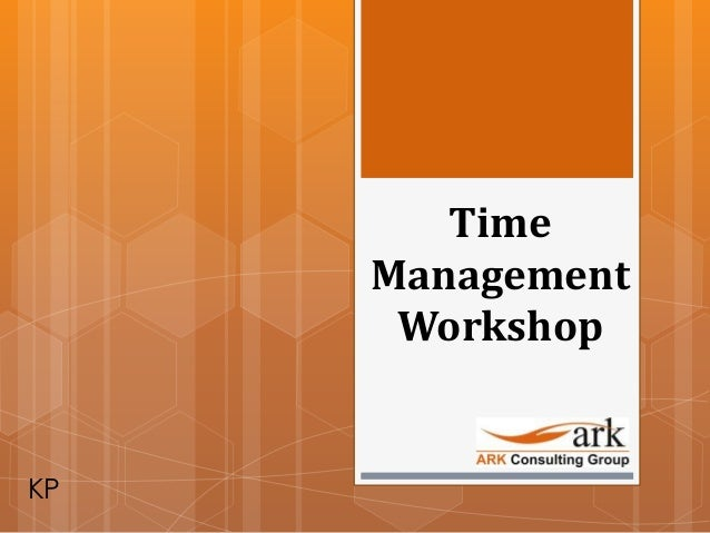 Preview of Time Management Workshop