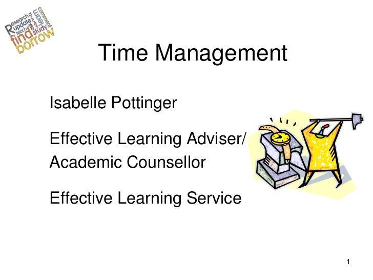 Time management workshop sept11