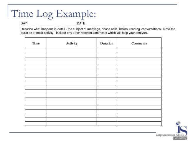 Energy Law Of Attraction Time Management Activity Log