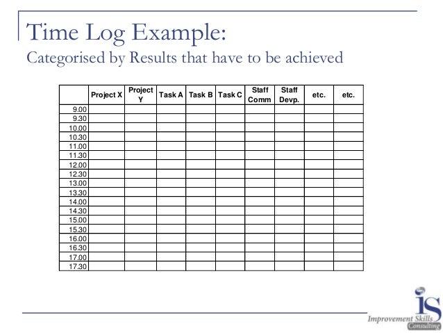 hour log template
