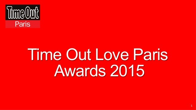 1 Time Out Love Paris Awards 2015