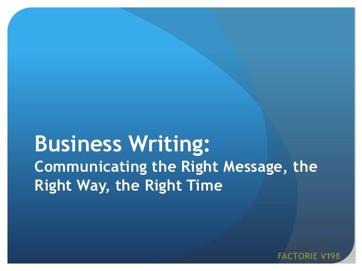 "MPI Nuts & Bolts ""Business Communications"""