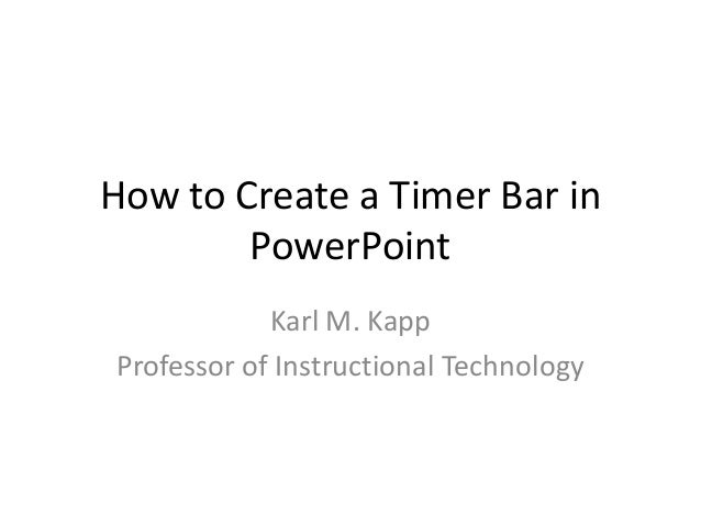 Creating a Timer Bar on PowerPoint to Count Down Time