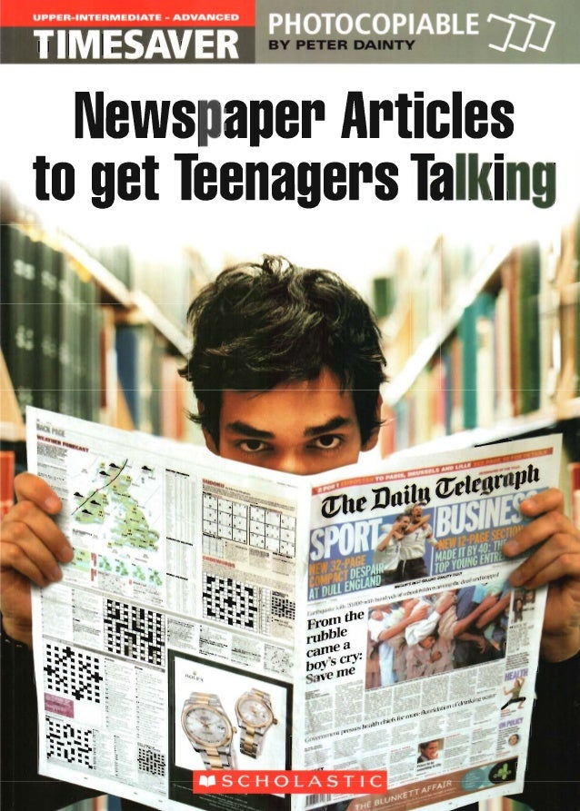 Newspaper articles to get teenager talking