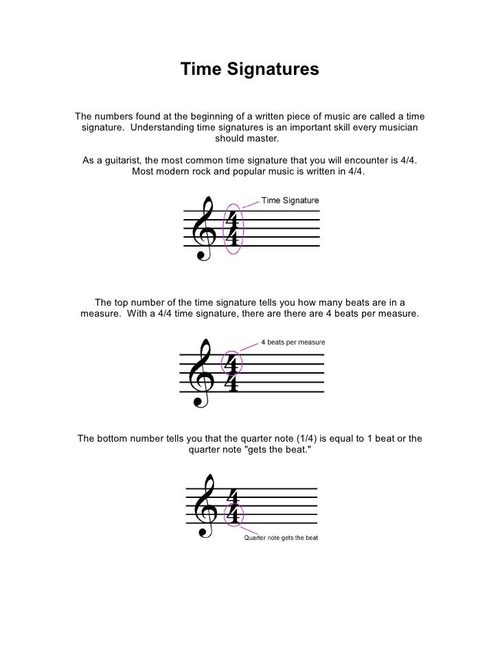 Time Signatures  The numbers found at the beginning of a written piece of music are called a time  signature. Understandin...