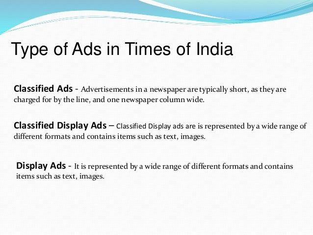 Display Classified Ads Classified Display Ads