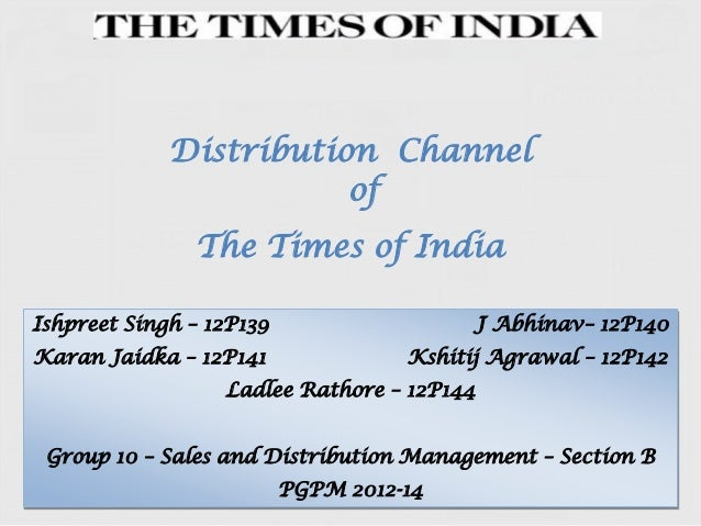 Distribution Channel of The Times of India