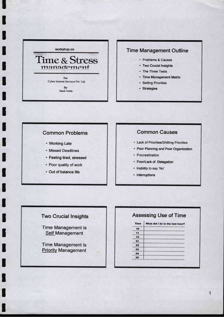 Time & stress management