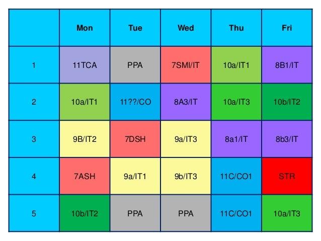 School Timetable 2013/2014