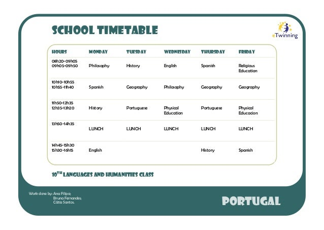 Our school timetable (10LH)