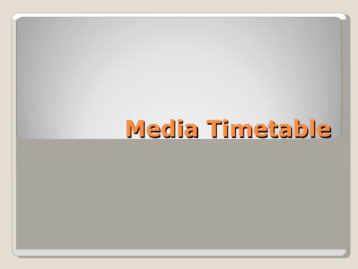 Timetable, Flat plan, Mood board and Reader profile