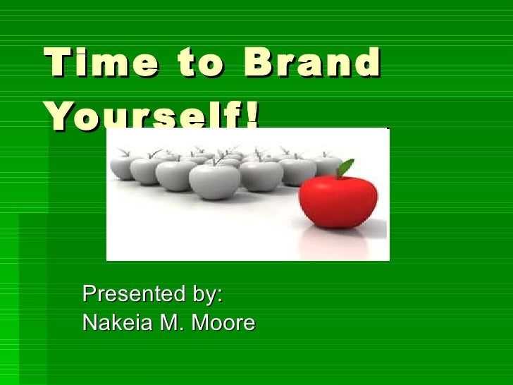 Time To Brand Yourself! nmdl